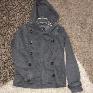 Heather Grey Pea Coat